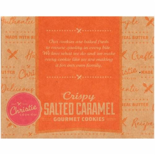 Christie Cookie Co. Crispy Salted Caramel Gourmet Cookies Perspective: back