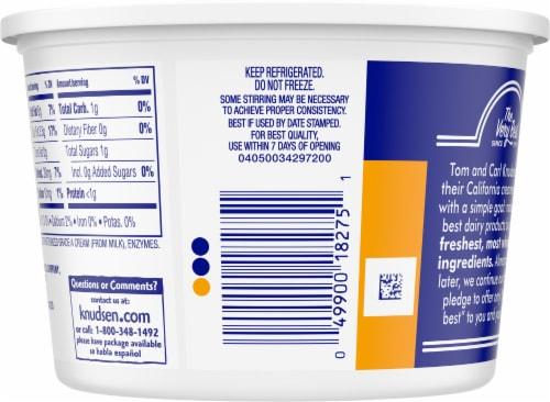Knudsen Hampshire Sour Cream Perspective: back