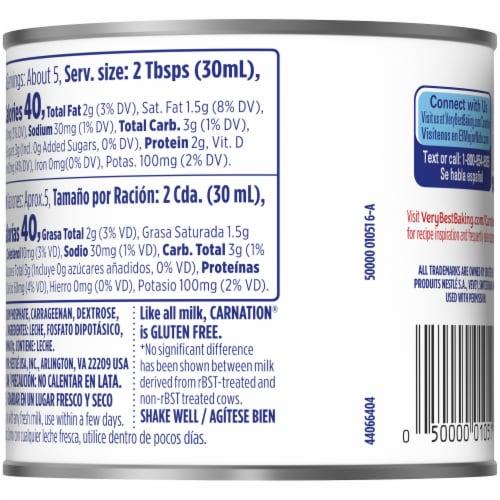 Nestle Carnation Evaporated Milk Perspective: back