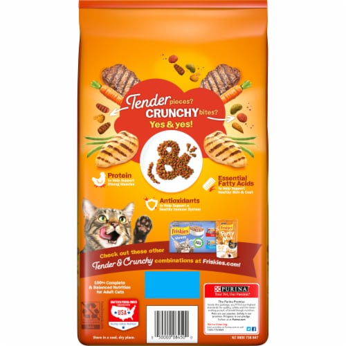 Friskies Tender & Crunchy Combo Dry Cat Food Perspective: back