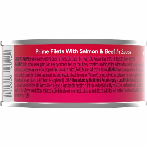 Friskies® Prime Filets with Salmon & Beef in Sauce Wet Cat Food Perspective: back