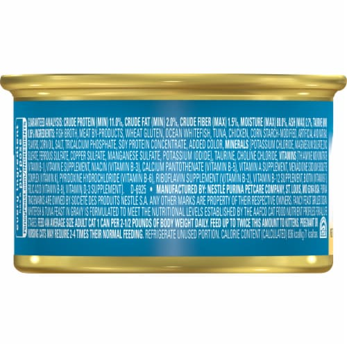 Fancy Feast Grilled Ocean Whitefish & Tuna Feast in Gravy Wet Cat Food Perspective: back