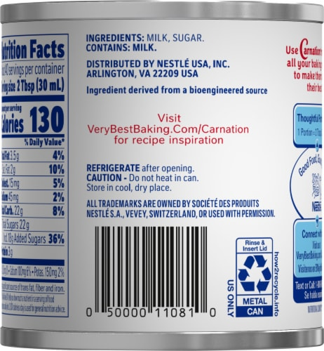Carnation® Sweetened Condensed Milk Perspective: back
