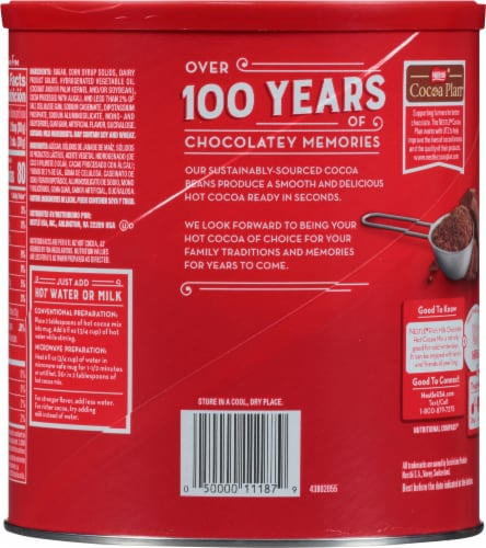 Nestlé Rich Milk Chocolate Hot Cocoa Mix Perspective: back