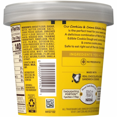 Nestle Toll House Cookies & Creme Edible Cookie Dough Perspective: back
