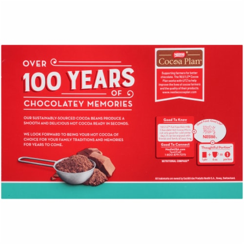 Nestle® Fat Free Rich Milk Chocolate Hot Cocoa Mix Perspective: back