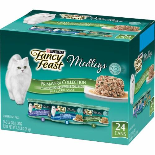 Fancy Feast Medleys Gourmet Primavera Collection Wet Cat Food Perspective: back