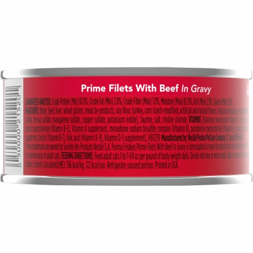 Purina Friskies Prime Filets with Beef in Gravy Adult Wet Cat Food Perspective: back