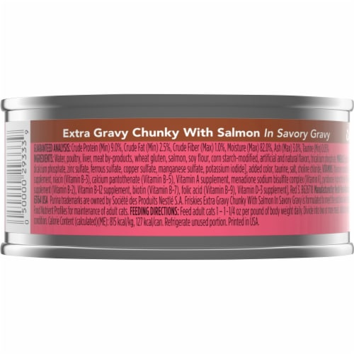 Friskies Extra Gravy with Salmon Chunky Wet Cat Food Perspective: back