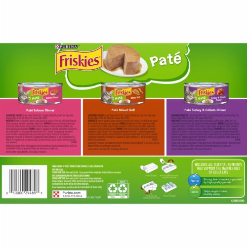 Friskies® Classic Pate Salmon Turkey & Grilled Wet Cat Food Variety Pack Perspective: back