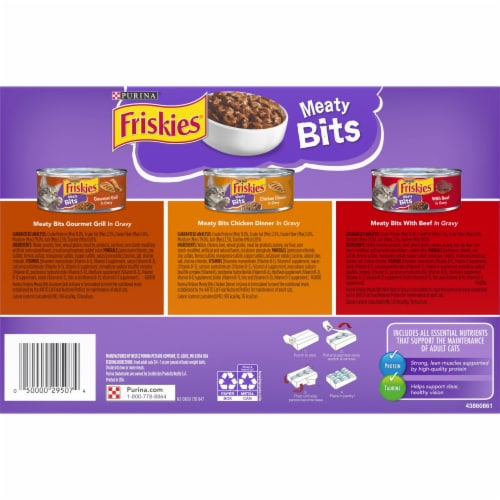 Friskies Meaty Bits Wet Cat Food Variety Pack Perspective: back