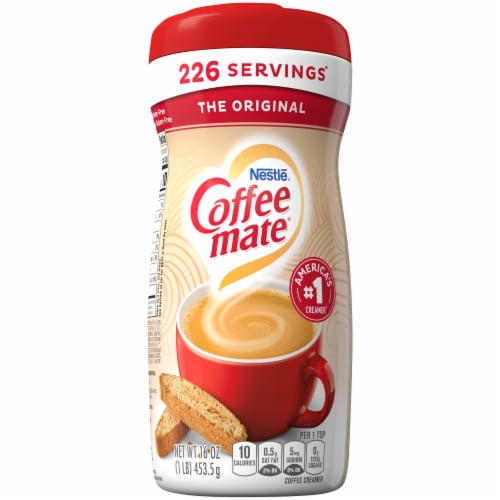Nestle Coffee mate Original Powdered Coffee Creamer Perspective: back