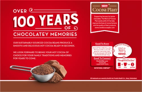 Nestlé® Rich Milk Chocolate Hot Cocoa Mix Perspective: back