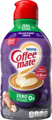 Nestle Coffee-mate Zero Sugar Italian Sweet Creme Liquid Coffee Creamer Perspective: back