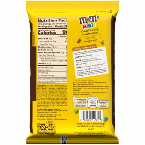 Nestle Toll House M&M'S Minis Cookie Dough Perspective: back
