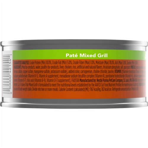 Friskies Pate Mixed Grill Adult Wet Cat Food Perspective: back