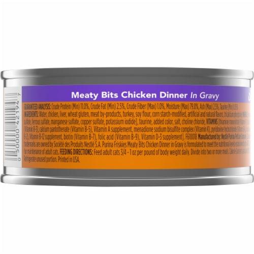 Friskies Meaty Bits Chicken Dinner in Gravy Wet Cat Food Perspective: back