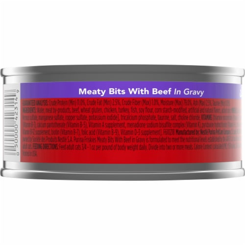 Friskies Meaty Bits with Beef in Gravy Adult Wet Cat Food Perspective: back