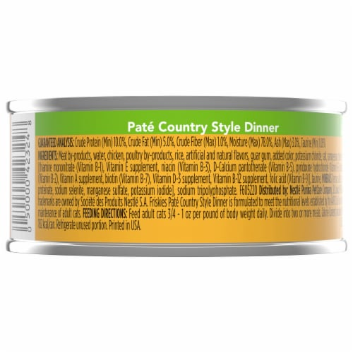Friskies Pate Country Style Dinner Adult Wet Cat Food Perspective: back