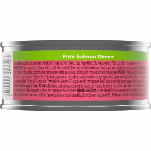 Friskies Pate Salmon Dinner Wet Cat Food Perspective: back