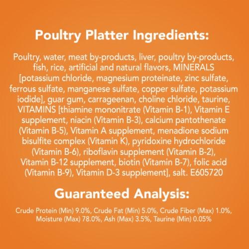 Friskies Pate Poultry Platter Wet Cat Food Perspective: back