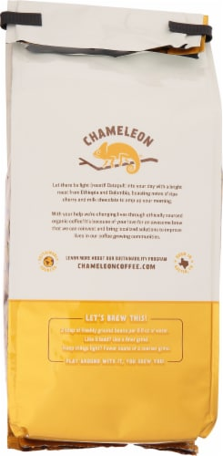 Chameleon Organic Day Breaker Light Roast Whole Bean Coffee Perspective: back
