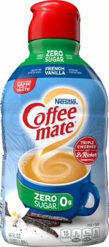 Nestle Coffee Mate Zero Sugar French Vanilla Liquid Coffee Creamer Perspective: back