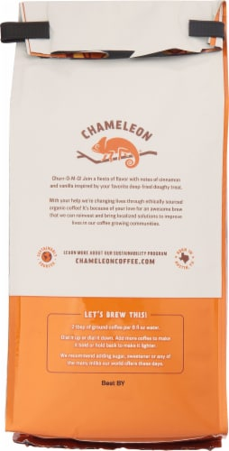 Chameleon Organic Churro Flavored Ground Coffee Perspective: back