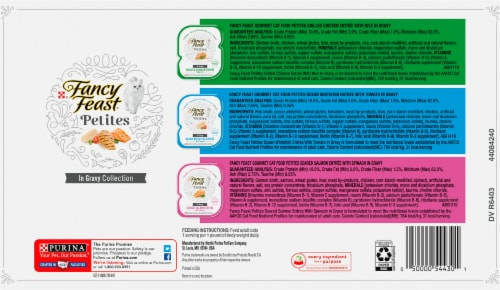 Fancy Feast® Petites in Gravy Wet Cat Food Variety Pack Perspective: back