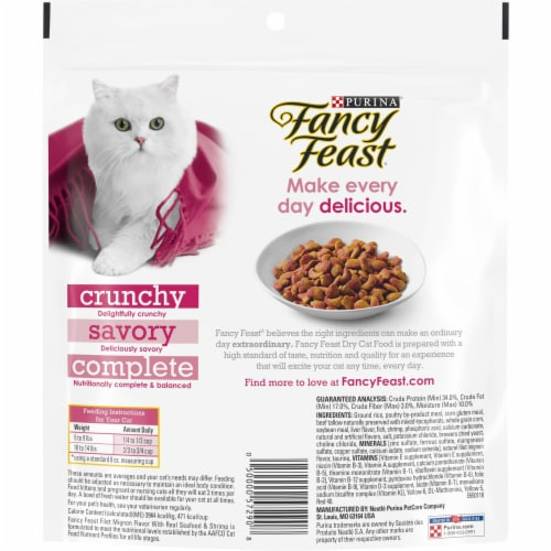 Fancy Feast® Filet Mignon Flavor with Real Seafood & Shrimp Dry Cat Food Perspective: back