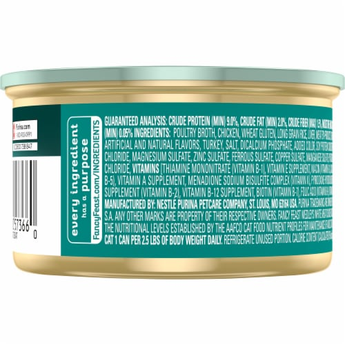 Purina Fancy Feast Medleys White Meat Chicken Tuscany Wet Cat Food Perspective: back