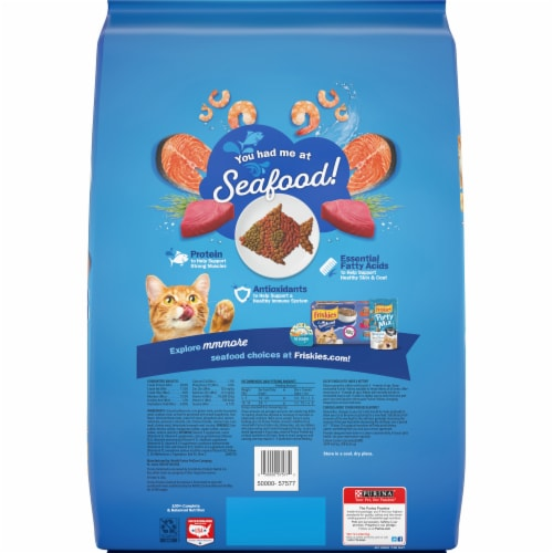 Friskies Seafood Sensations Dry Cat Food Perspective: back