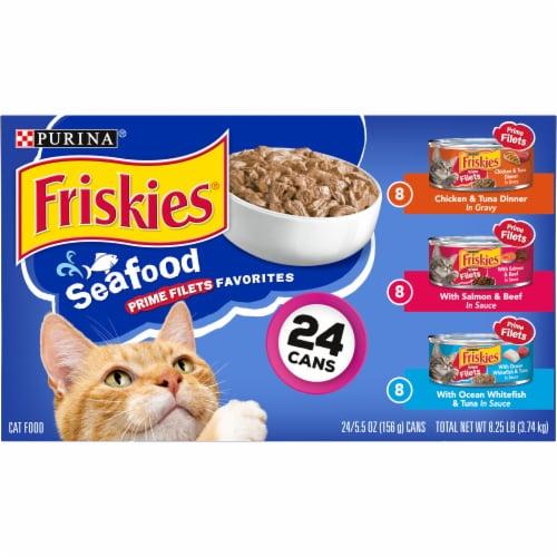 Friskies® Seafood Prime Filets Favorites Wet Cat Food Variety Pack Perspective: back