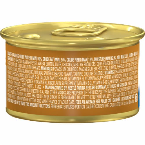 Fancy Feast Gravy Lovers Ocean Whitefish & Tuna Feast Wet Cat Food Perspective: back
