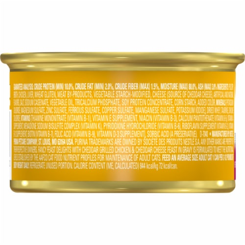 Fancy Feast Delights Grilled Chicken & Cheddar Cheese Feast Wet Cat Food Perspective: back