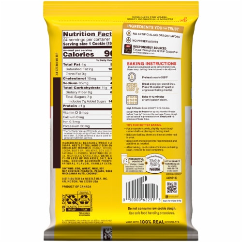 Nestle® Toll House Chocolate Chip Cookie Dough Perspective: back