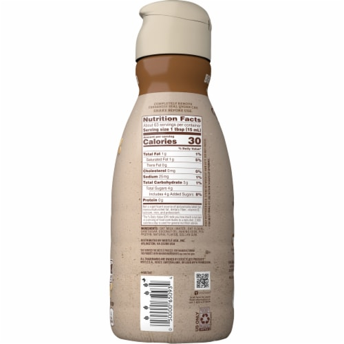 Coffee-mate Natural Bliss Oat Milk Brown Sugar Coffee Creamer Perspective: back