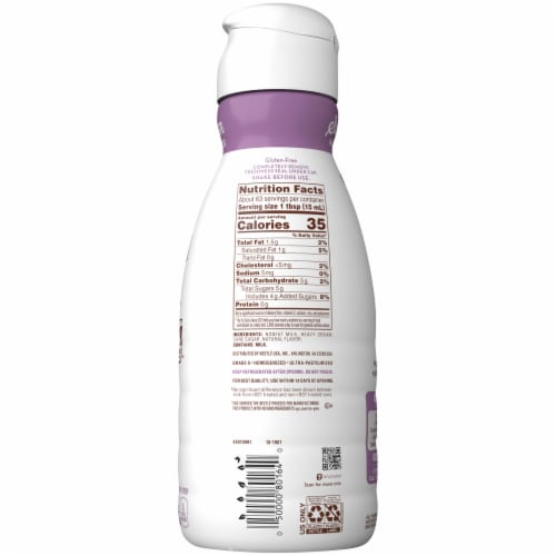 Coffee mate Natural Bliss Sweet Cream All Natural Liquid Coffee Creamer Perspective: back