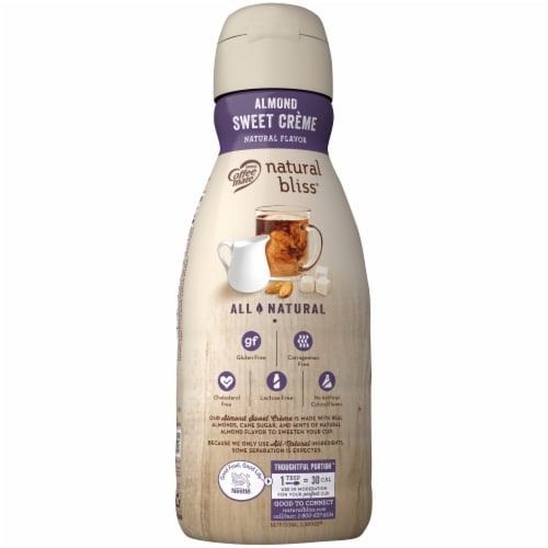 Coffee-mate Natural Bliss Almond Sweet Creme Coffee Creamer Perspective: back