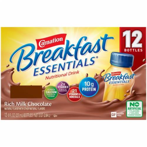 Carnation Breakfast Essentials Rich Milk Chocolate Nutritional Drink Perspective: back