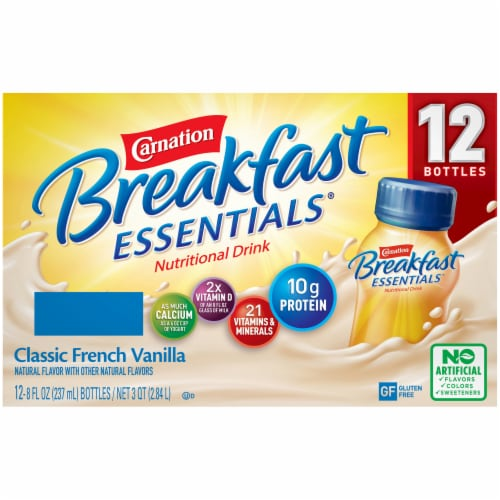 Carnation Breakfast Essentials® Vanilla Nutritional Drink Perspective: back