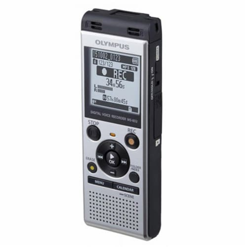 Olympus Ws-852 Digital Voice Recorder (silver) Perspective: back