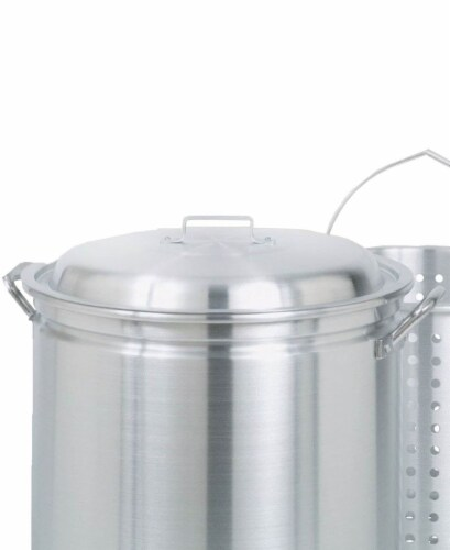 Bayou Classic Aluminum Stockpot 42 Silver - Case Of: 1; Perspective: back