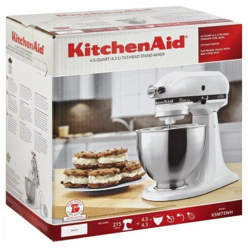 KitchenAid KSM75WH Classic Plus Tilt-Head Stand Mixer - White Perspective: back