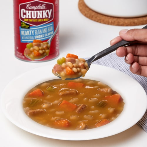 Campbell's Chunky Hearty Bean & Ham Soup Perspective: back