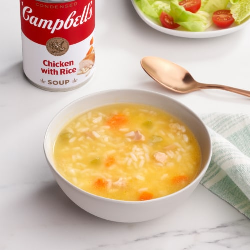 Campbell's Chicken with Rice Condensed Soup Perspective: back
