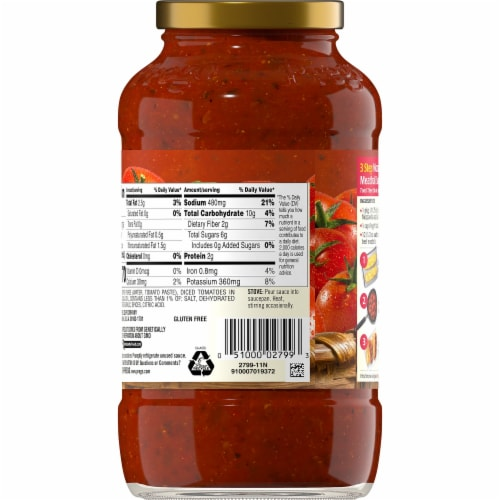 Prego® Marinara Italian Pasta Sauce Perspective: back
