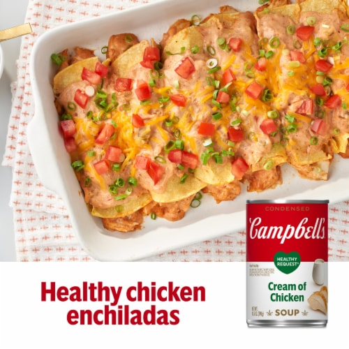 Campbell's Healthy Request Cream of Chicken Condensed Soup Perspective: back