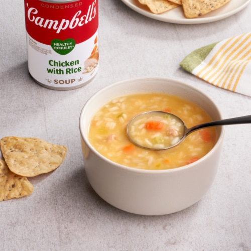 Campbell's Healthy Request Chicken with Rice Condensed Soup Perspective: back