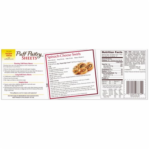 Pepperidge Farm Puff Pastry Sheets Perspective: back
